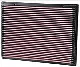 K&N 33-2703 Filtro de Aire Coche, Lavable y Reutilizable