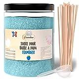 Greendoso- Zucchero Colorato per Zucchero Filato 1 Kg Lampone per Macchina + 50 Bastoncini da 30 Cm (Offerti) + 1 Cucchiaio Misura