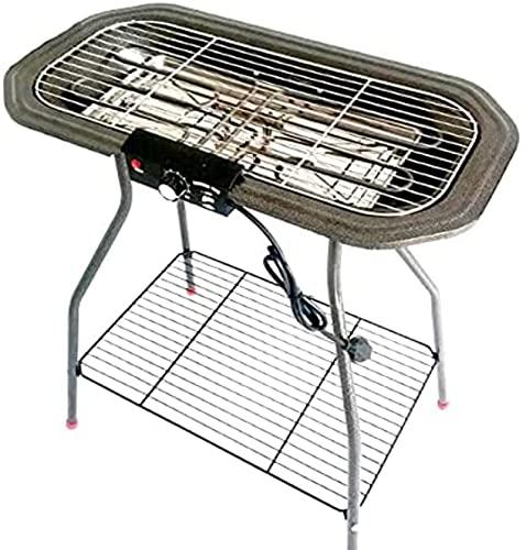 Grill de barbacoa de doble vegetal y electricidad, balcón vertical, parrilla de barbacoa sin humo, máquina de pinchos familiares, cocinar al aire libre camping picnic