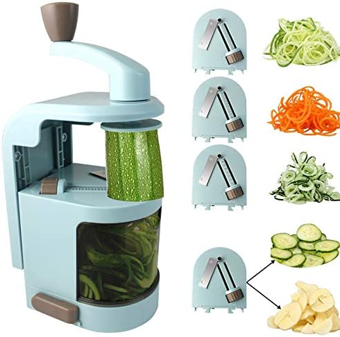 4 in 1 Rotating Blades Spiralizer Vegetable Slicer Zucchini Spiral Noodle Zoodle Spaghetti Pasta product image