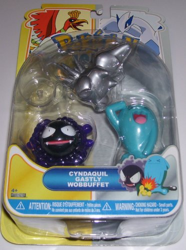 Pokemon Johto Multi-Pack Action Figures - Silver Cyndaquil Gastly Wobbuffet image