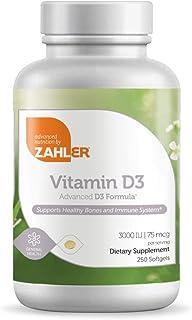 Zahler Vitamin D3, Advanced D3 Formula, 3,000 IU, 250 Softgels