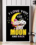 NUCOVASUTEE Snoopy I Love You Poster (30,5 x 45,7 cm)