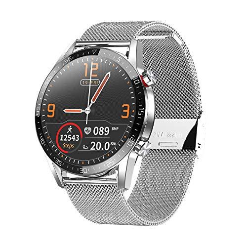 Aoigoo Smartwatch,Fitness Watch Uhr Voller Touch Screen Fitness Uhr IP68 Wasserdicht Fitness Tracker Sportuhr mit Schrittzähler Pulsuhren Stoppuhr für Herren Damen Smart Watch für Android iOS Handy