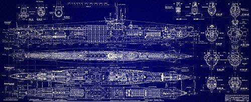 Der Museum Steckdose Charts von–Deutsches U-Boot–A3Poster Druck
