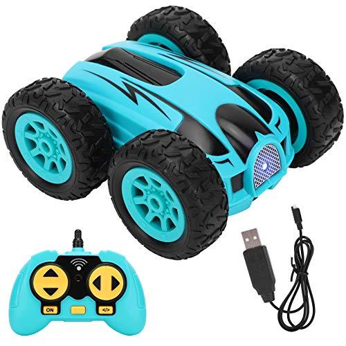 Taidda- 【2021 Neujahrsangebot】 Mini-Stunt-Auto, ferngesteuerte Lastwagen Kinder-Elektrofahrzeuge Kinder-Sandspielzeug Drahtloser Allradantrieb für Kinder-Jungen(Blue)