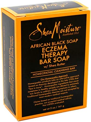 Shea Moisture Soap 5 Ounce Bar African Black Eczema Therapy 148ml 3 Pack product image