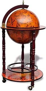 Botellero de vino, soporte de botella globo globo terráqueo, botellero de pie, botellero de vino de tierra, estantería multifunción, diseño Whisky con ruedas, estilo retro