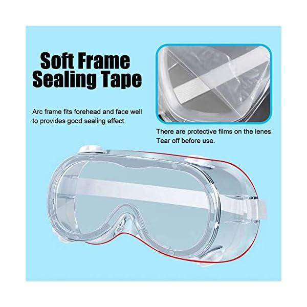 MJ style 1 Unid Gafas de Seguridad Protectoras Ventilaci/ón Indirecta Desechable Antivaho Gafas de Salpicadura M/édica Ventilaci/ón Suave Flexible Directa