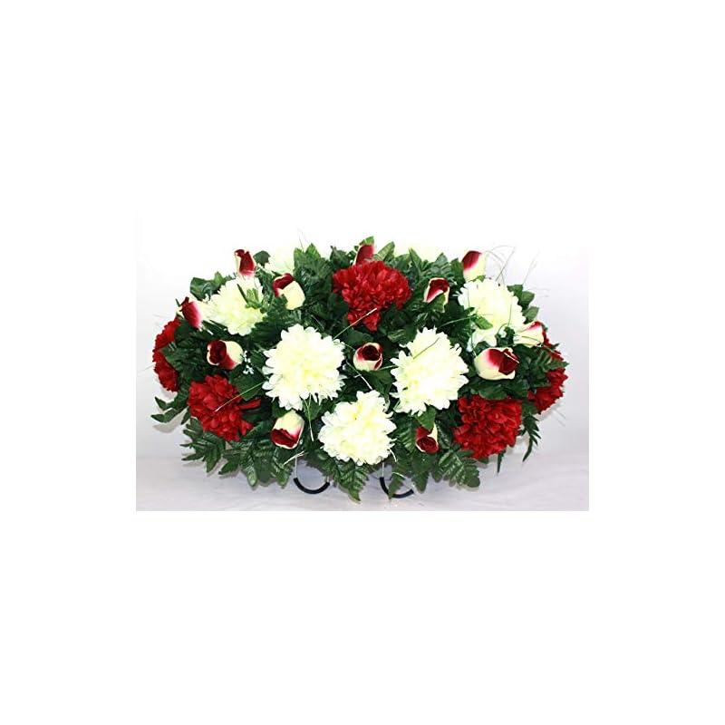 silk flower arrangements xl spring mixture artificial silk flower cemetery tombstone grave saddle