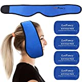 LotFancy Gel Ice Pack with Wrap, Pain Relief for TMJ, Wisdom Teeth, Face, Head, Chin Jaw Oral and Facial Surgery, Dental Implants, Reusable Hot Cold Pack for Therapy