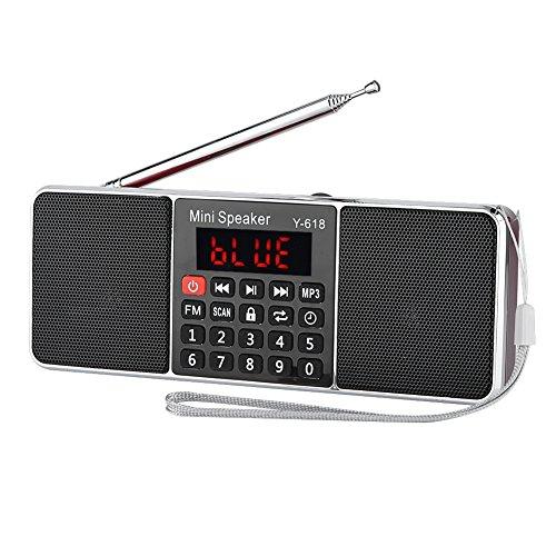 Topiky MP3-speler-radio, 87,5-108 MHz stereo-FM-radio PW-Cut-geheugen TF/USB-muziek handsfree functie MP3-speler-radio bellen, rood