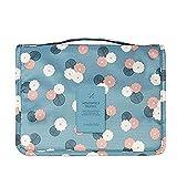 Emwel bolsa de cosméticos bolsa de aseo para hombres y mujeres de viaje camping cosas necesarias cosméticos estuche de maquillaje bolso (Flor azul cielo)