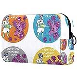 Personalizado Maquillaje Cepillos Bolsa Portátil Bolsas de tocador para las Mujeres Bolso Cosméticos Organizador de Viajes Brave Nurse