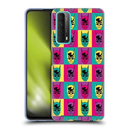 Head Case Designs sous Licence Officielle Batman DC Comics Tête De Pop Art Mode Vintage Coque en Gel Doux Compatible avec Huawei P Smart (2021)