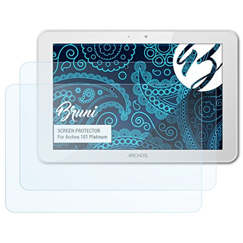 Bruni Schutzfolie kompatibel mit Archos 101 Platinum Folie, glasklare Bildschirmschutzfolie (2X)