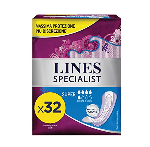 Lines Specialist Super, 32 Assorbenti per Incontinenza Donna