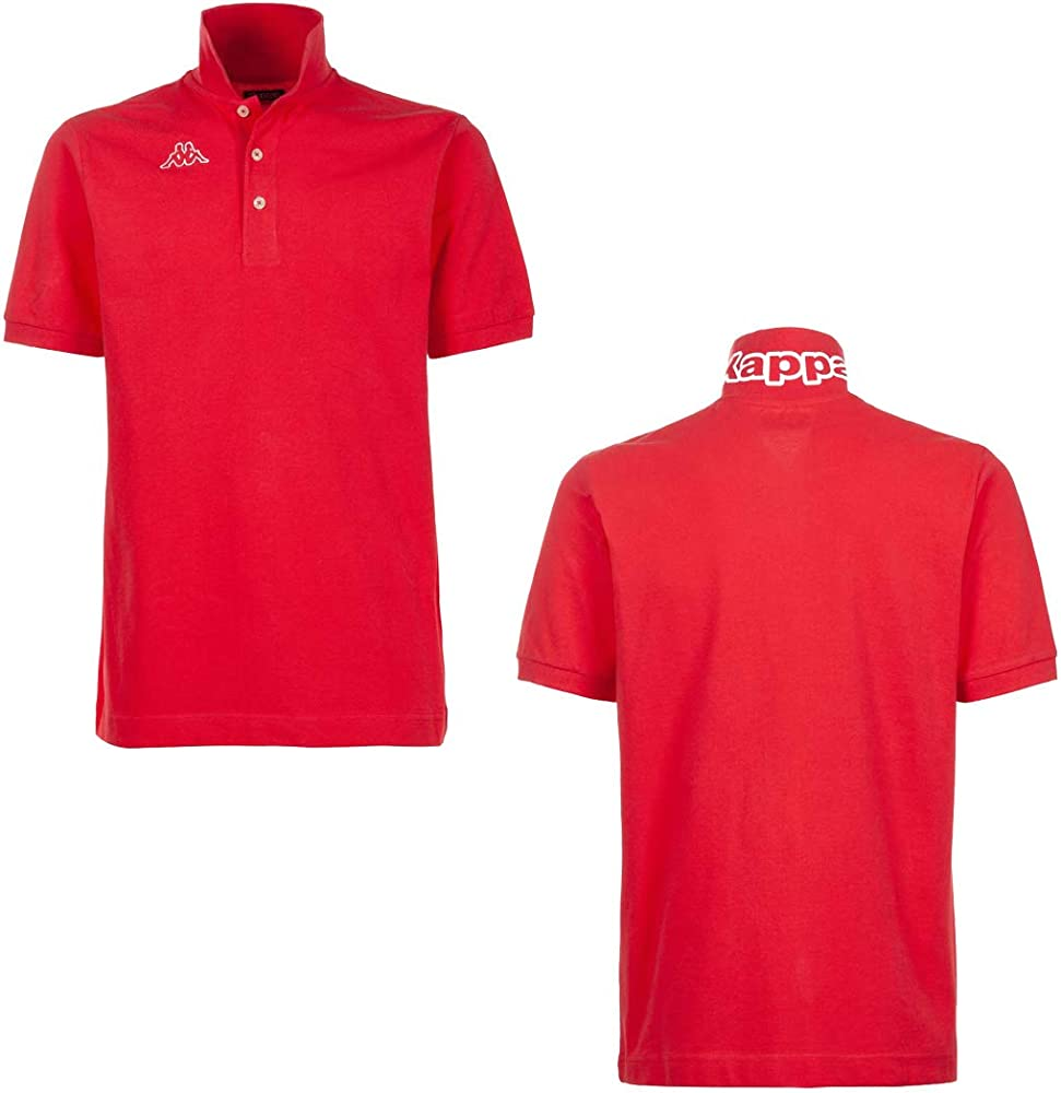 Kappa man logo life polo maglietta a maniche corte da uomo 100% cotone GS_302S1U0_005_red_XS