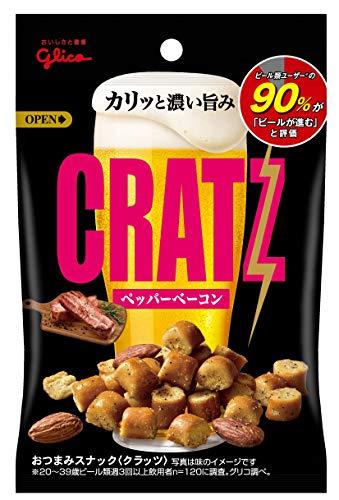 スマートマットライト 江崎グリコ クラッツ ペッパーベーコン 42g×10個 おつまみ ビールに合う スナック菓子