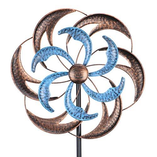 Wind Spinner, Premium Kinetic Wind Sculpture Metal Windmill for Outdoor Yard Patio Lawn & Garden