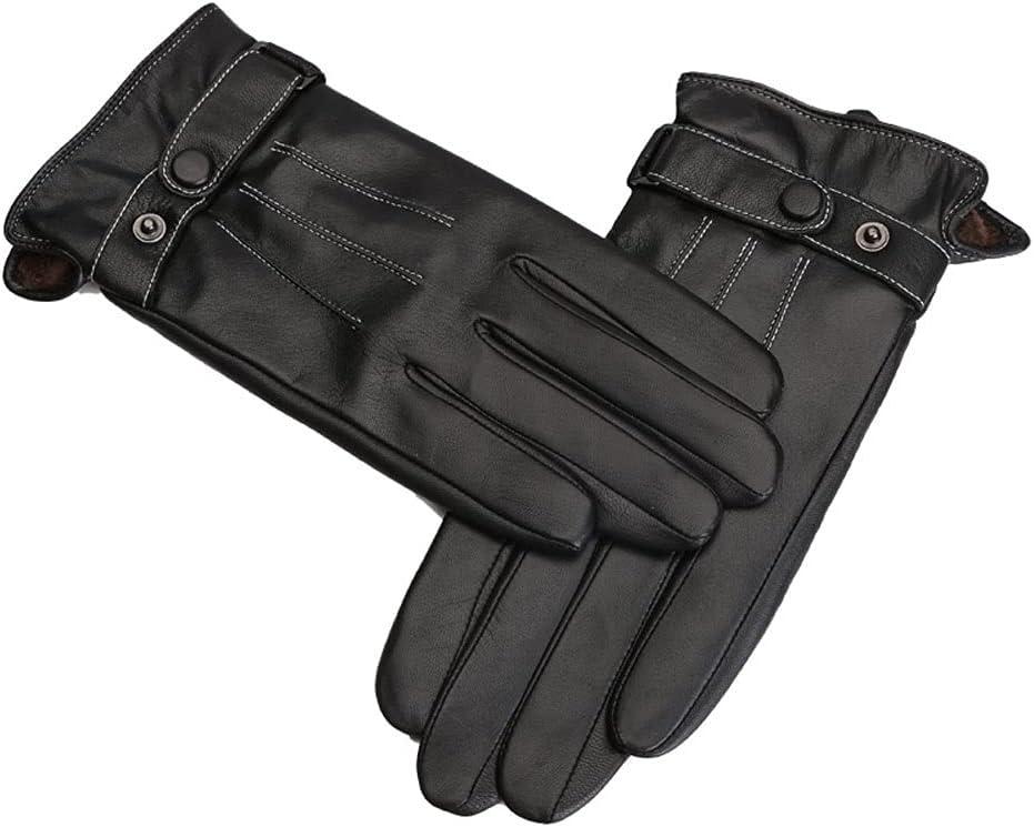 UimimiU Mens Winter Luxury Genuine Lin Leather free Cashmere New life Lambskin