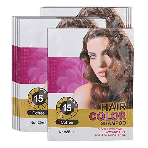 Temporäres Haarfarbenshampoo, Professionelles Einweg-Haarfärbeshampoo in Braun, Rotkastanie und Gold für jede Haarqualität(Kaffee)
