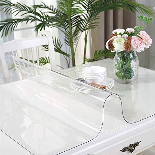 Mantel transparente, goma de PVC de cristal, impermeable, a prueba de aceite, antiescarcha, tapete de mesa, adecuado para sala de estar, dormitorio, comedor, hotel, grosor: 1,5 mm-60x60 cm (24x24 pul