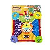 Nuby Teething Blankie. Squeak & Crinkle Teether & Blanket, Lion