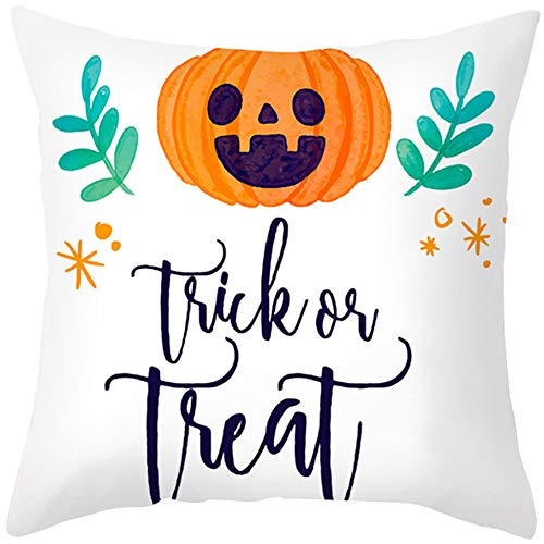 WESDOO outdoor cushions pillows cases Halloween pillowcases Halloween cushion covers pumpkin decorations nightmare before christmas blanket pillow cover 45x45,3