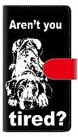 楽天モバイル AQUOS sense4 lite SH-RM15 手帳型 スマホ ケース カバー 【ステッチタイプ】 YF997 バウワウ08 横開き UV印刷