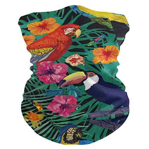 Stoff-Gesichtsmaske für Damen, multifunktional, Bandanas, Schnittmuster, unisex, Papagei auf Ast, Stoffmaske, Muster, bedruckbar, für Herren und Damen, Kopfbedeckung, Gesichtshandtuch, waschbar