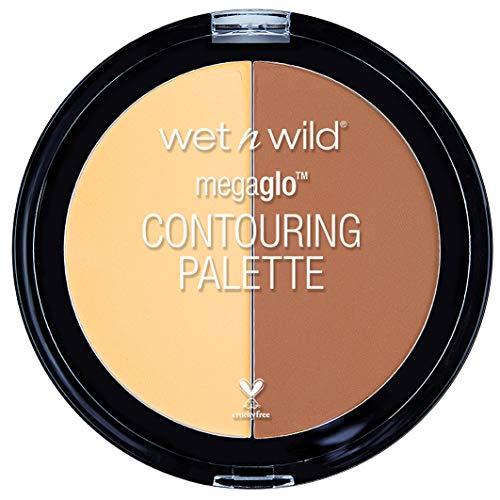 wet n wild – Palette de contouring Mega Glo Countoring – Duo de poudres - Teinte Caramel Toffee - Made in US - 100% Cruelty Free - Produit Vegan