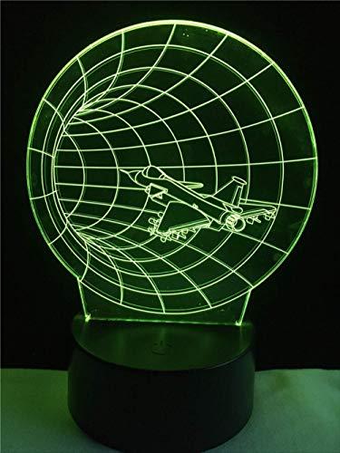 LWJZQT nachtlampje Fantasiosa decoratieve verlichting kabel Time Machine 3D LED USB slaapkamer nachtlicht tafellamp meerkleurig rekken party huis