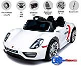 Babycoches - Coche eléctrico para niños 918 Spyder con Mando a Distancia para Control Parental, 12V (White)