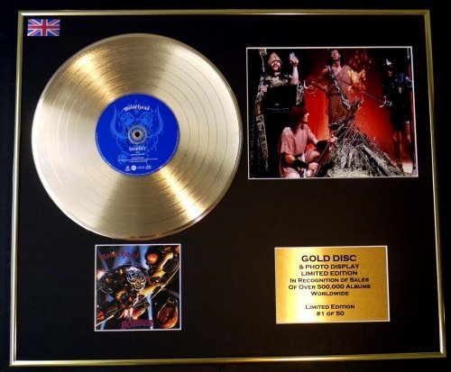 Motorhead/CD Gold DISC/Record & Photo Display/LTD. Edition/COA/Bomber