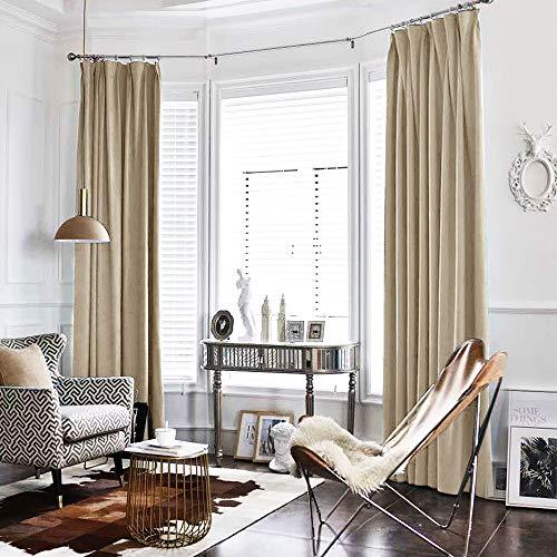 jinchan Green Curtains Velvet Drapes Bedroom Window Curtains 84 Inch Long Living Room Rod Pocket Window Treatment Set 2 Panels