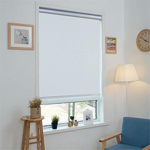 MCTECH® Thermorollo Verdunkelung Verdunkelungsrollo Seitenzugrollo Klemmfix Rollo ohne Bohren (80 x 160 cm, Weiß)