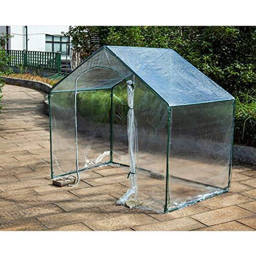 Treibhaus Gartengewächshauszelt Schutz Tragbar PVC Tomatengewächshaus Regenfest Grosse Kapazität, 2 Farben Gzhenh (Color : Klar, Size : 180x105x153cm)