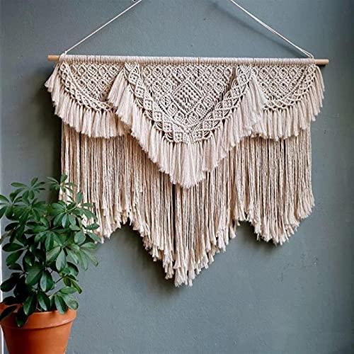 WANBAO Beautiful Pendant Efemeral Pared Colgante Arte geométrico decoración de Pared Fondo Bohemio Fondo Chic artesanía tejiendo loikktg