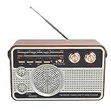 KDLK Radio Receptor de Radio Digital FM/Am/SW Radio Altavoz USB Recargable portátil para Disco U/Tarjeta de Memoria Mini Radio para el hogar