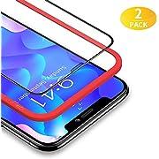 BANNIO für Panzerglas für iPhone 11 Pro / iPhone XS / iPhone X,2 Stück 3D Full Screen Panzerglasfolie Schutzfolie für iPhone 11 Pro / iPhone XS / iPhone X 5,8 Zoll,9H Härte Displayschutzfolie,Schwarz