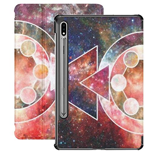 Funda para Galaxy Tab S7 Funda Delgada y Ligera con Soporte para Tableta Samsung Galaxy Tab S7 de 11 Pulgadas Sm-t870 Sm-t875 Sm-t878 2020 Release, Nebula Galaxies Space Elements Esta Imagen