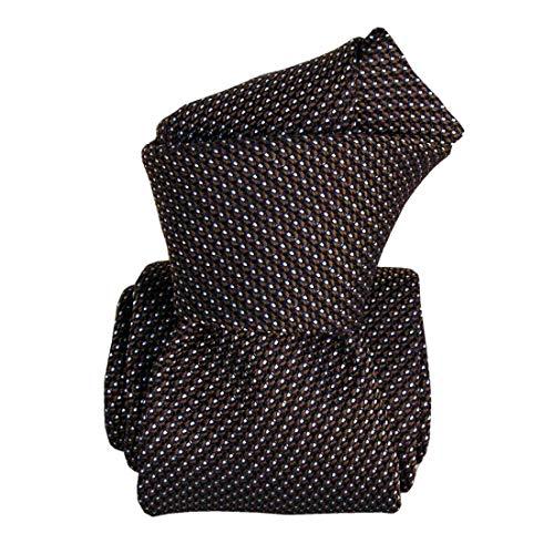 Segni et Disegni. Cravate grenadine. Paris IV, Soie. Brun, Uni. Fabriqué en Italie.
