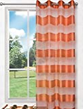 Splendid Florence - Cortina de confección con ollaos (140 x 245 cm), Color Naranja