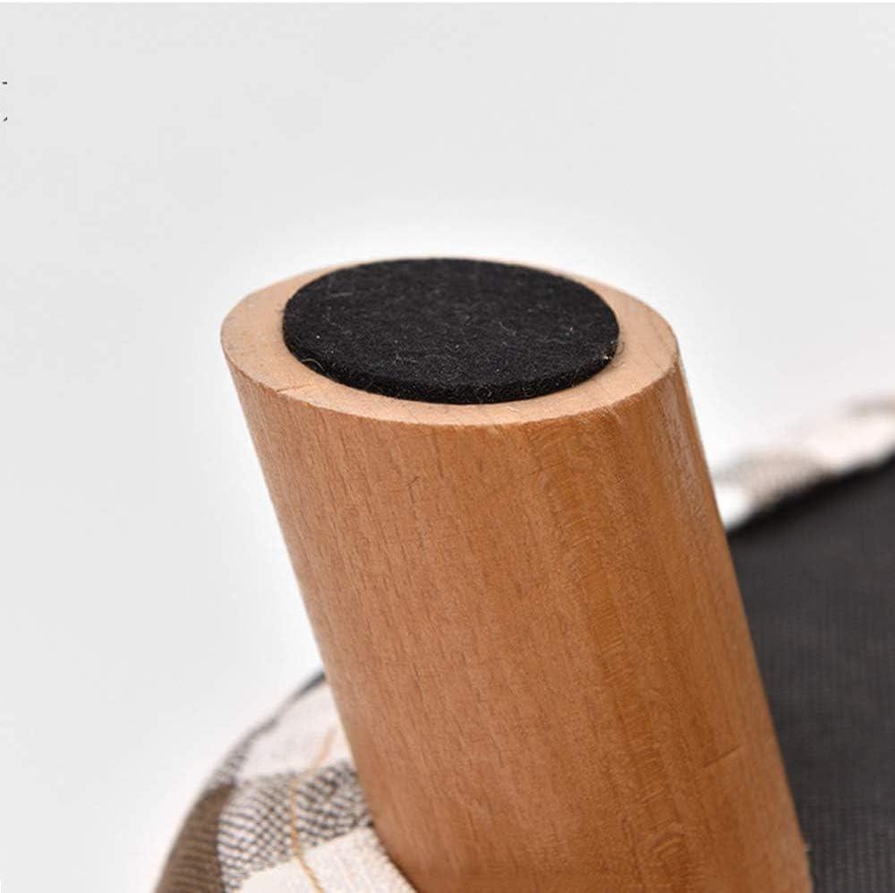 New Home Bois Soutien Chaise rembourrée Repose-pieds Tabouret Coton et Lin Tissu 4 Jambes multiples 28x28x25cm Couleur (Color : 4) 7