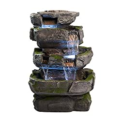 cheap Wilson Rock Fountain: Breathtaking water features for your garden and terrace. Weatherability…
