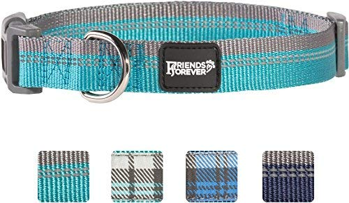 Unbekannt Friends Forever Plaid Hund Halsband für Hunde, Mode Gewebtem Checkers Muster, Cute Puppy Halsband von, verfügbar in Größe Small/Medium/Large, Medium 14-20