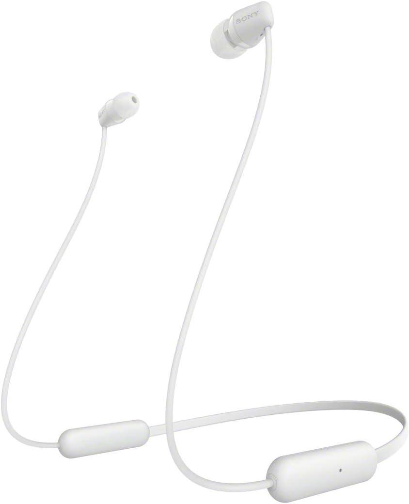 SONY WI-C200 Wireless Bluetooth Headphones - White