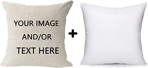 Custom Friends Family Birthday Gift Cotton Linen Square Throw Waist Pillow Case Decorative Cushion Cover Pillowcase Sofa 1...