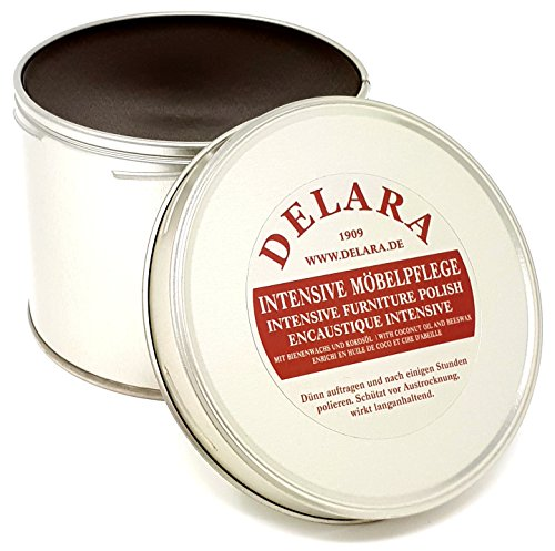 DELARA Intensive Möbelpflege, sehr hochwertiges Möbelwachs mit Bienenwachs und Kokosöl, 500 ml,...